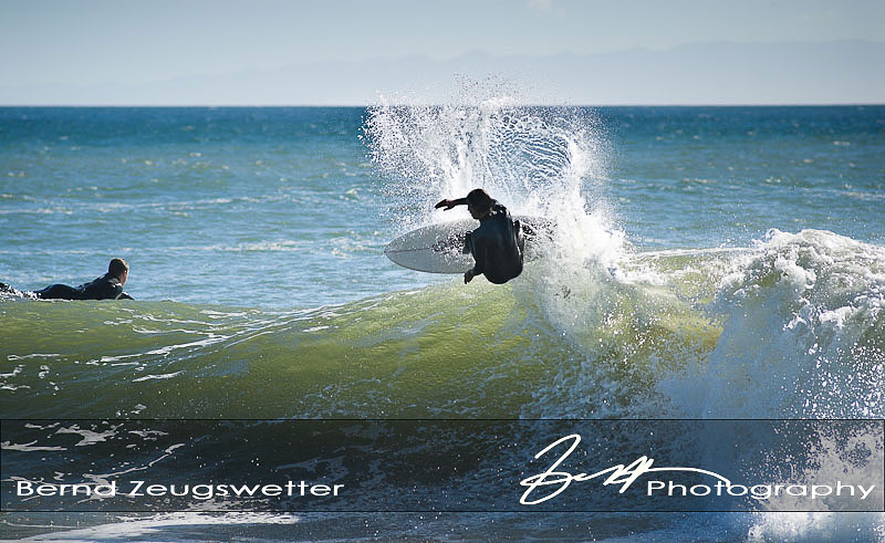 surfer doing some aerials