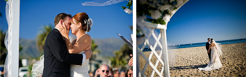The Kiss, Beach Wedding, Santa Barbara