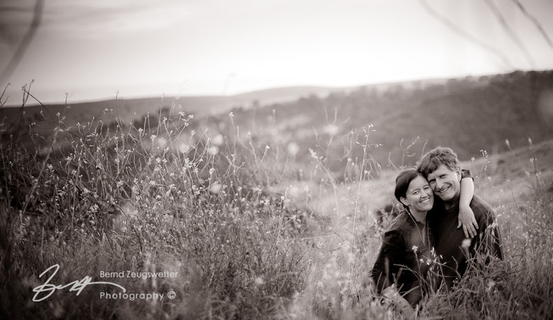 Portrait of couple in Santa Barbara foothills.