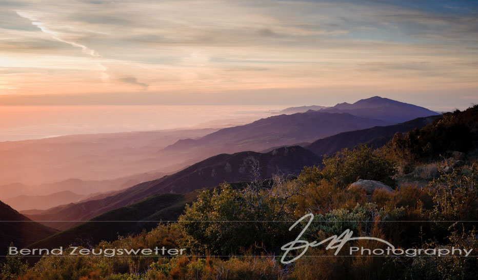 Santa Barbara coastal mountains.