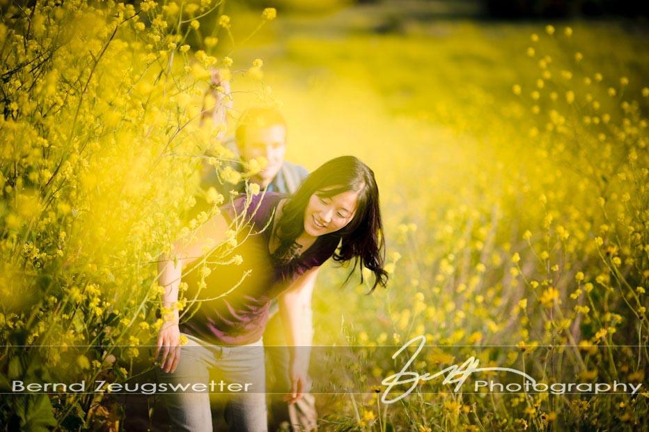 Couple in field of mustard at Gaviota