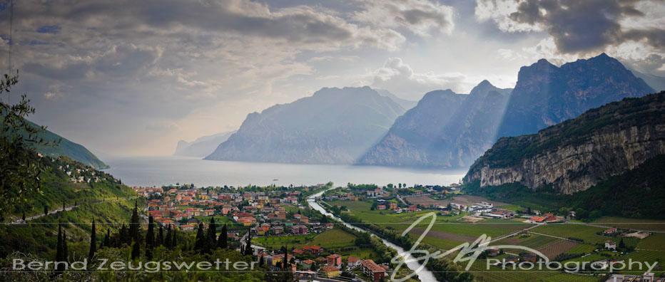 Panorama of Riva, Lago di Garda, Italy.