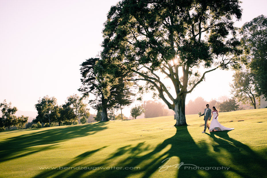 Wedding on the grounds of the Montecito Country Club, Santa Barbara.