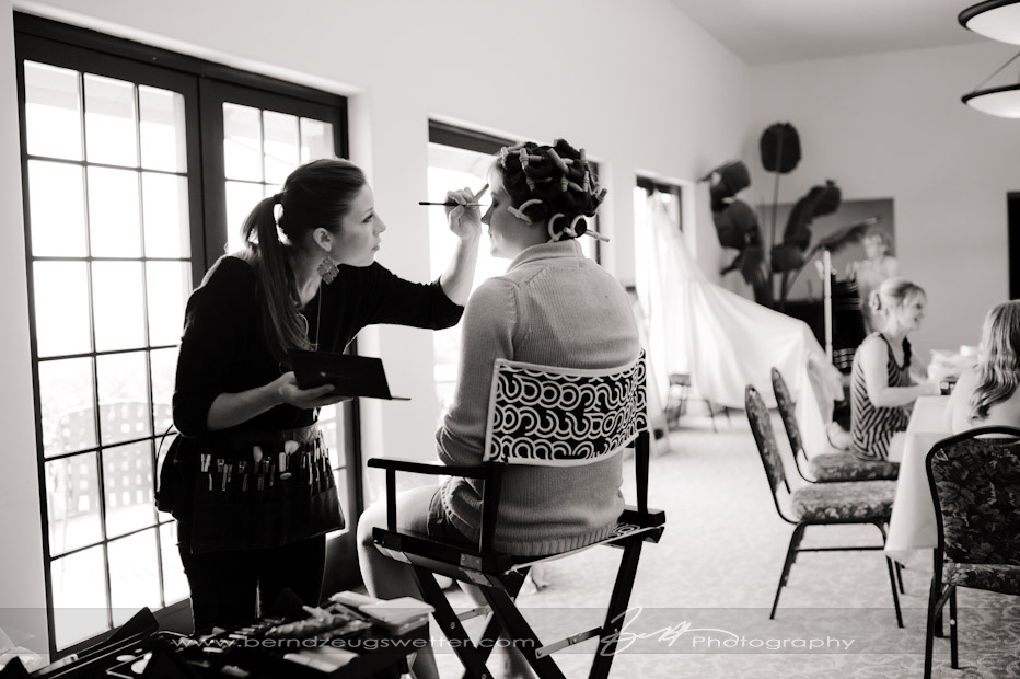 Make-up artist and the brides maides at the Montecito Country Club