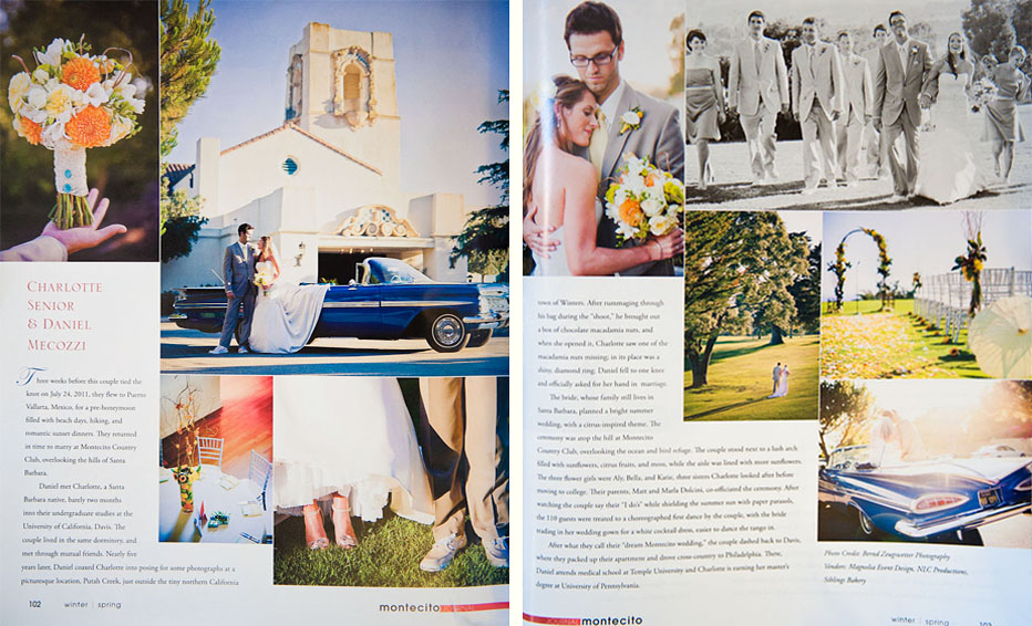 Montecito Journal, wedding photography published