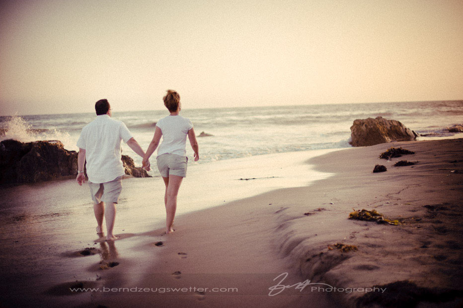 Couple on beach at Coal Oil Point, Santa Barbara portrait photographer