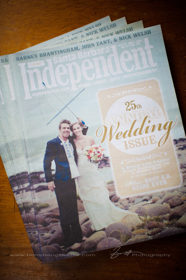 Santa Barbara Independent Cover, Wedding Issue.