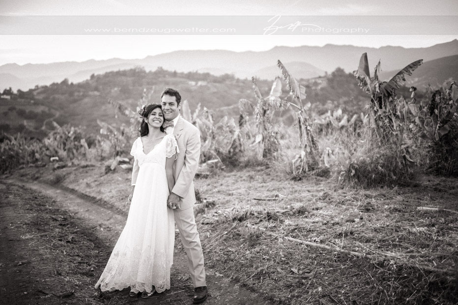 Santa Barbara Wedding Photography, bride and groom portrait above Carpinteria.