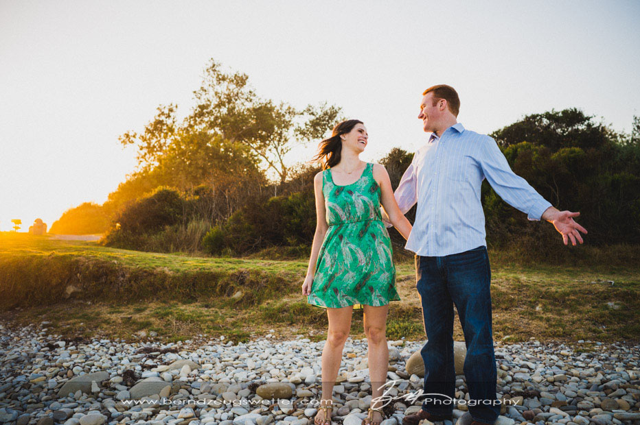 Engagement photos at El Capitan State Beach.