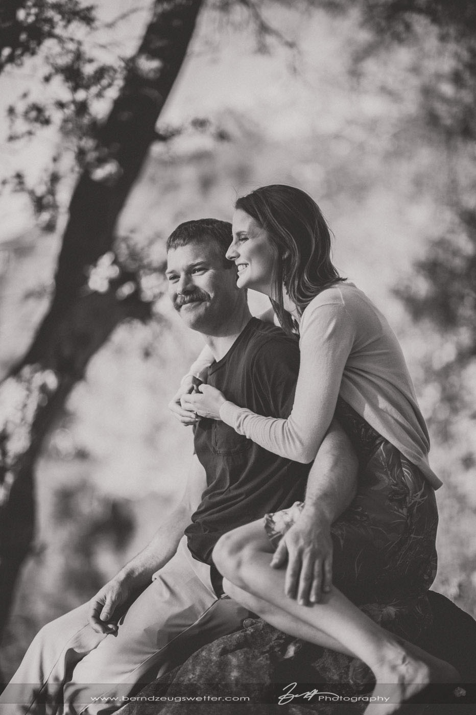 Engagement photos at the Santa Barbara Botanic Gardens.