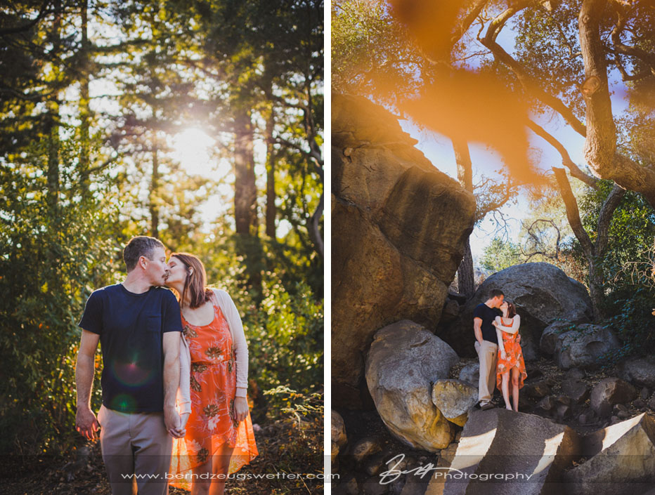 Engagement session at the Santa Barbara Botanic Gardens.
