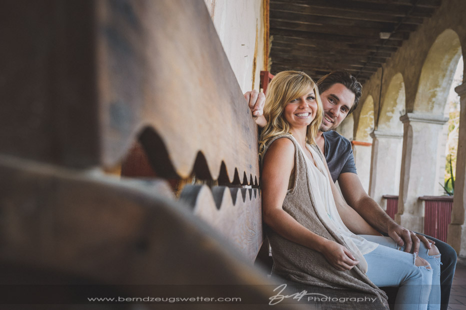 Santa Barbara Mission Engagement Session.