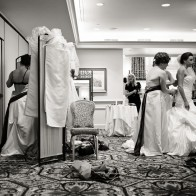 Bride and bridesmaids getting ready, Four Seasons Biltmore.