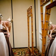 Bridesmaids and their reflection, Santa Barbara Biltmore.