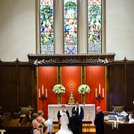 Wedding ceremony at the First United Methodist Church, Santa Barbara.