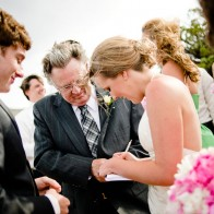 Signing the marriage certificate.