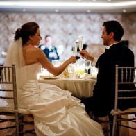 Bride and groom toasting, Coral Casino, Four Seasons Biltmore.