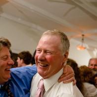 Fathers celebrating.
