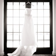 Beautifly Wedding dress in window, Montecito Country Club.
