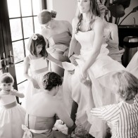Bride getting ready in Santa Barbara Hotel.