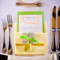 Detail of table sets at the Montecito Country Club.