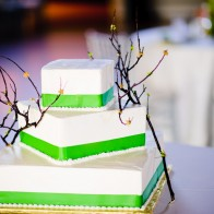 Wedding cake in the big hall at the Montecito Country Club, Wedding Photography