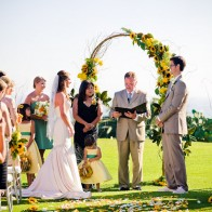 Wedding ceremony at the Montecito Country Club.