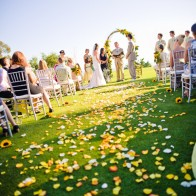 Santa Barbara and Montecito outdoor Wedding Ceremony.