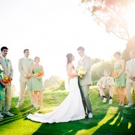 Group Portrait of Bride and Groom, Brides-maids and Grooms-men.