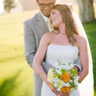 Portraits of wedding couple at the Montecito Country Club.