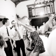 snap-shots on the dance floor at wedding party.