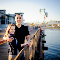 Portrait of couple on the Wharf, Santa Barbara.