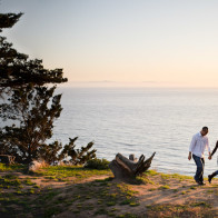 Engagement photos on the Douglas Family Preserve.