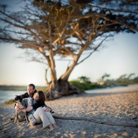 Bokeh stitch, engagement photography.