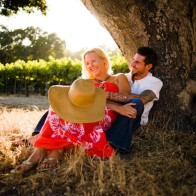 Engagement session at Firestone Vineyard.