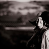 Portrait of engaged couple, Santa Ynez Valley.