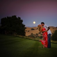 engagement photos with full moon.