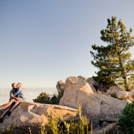 Engagement photography in the mountains of Santa Barbara.