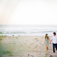 engagement session on the beach.