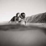 underwater engagement session in Santa Barbara