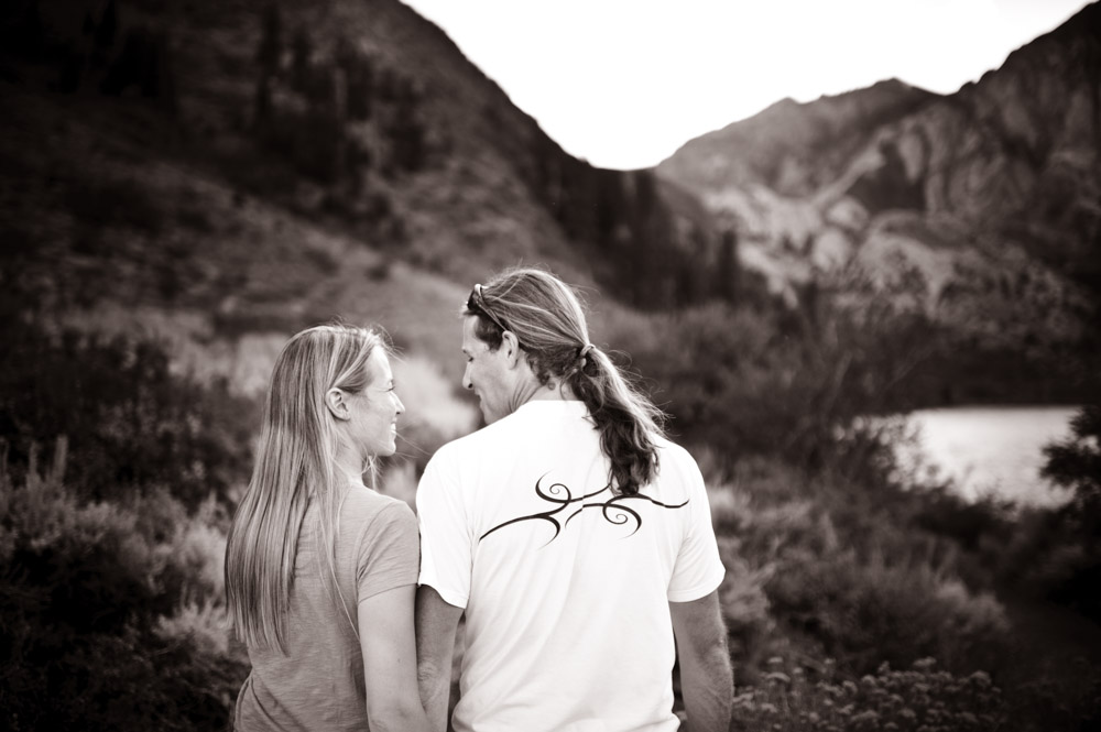 Engagement photography in the Eastern Sierra Nevada.