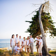 Portrait of large family at Coal Oil Point.
