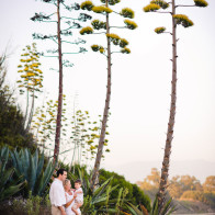 Family Portrait wth Century Plant, at Coal Oil Point, Goleta.
