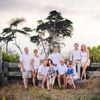 Portrait of large family at Coal Oil Point in Goleta, Santa Barbara Wedding Photographer